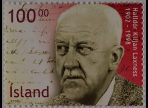Island 2002 Michel Nr. 1003 100. Geburtstag von Halldór Laxness