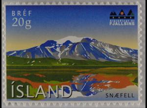 Island Iceland 2002 Michel Nr. 1004 Internationales Jahr der Berge Ostisland