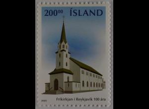 Island Iceland 2003 Michel Nr. 1033 100 Jahre Freie Kirche Reykjavík