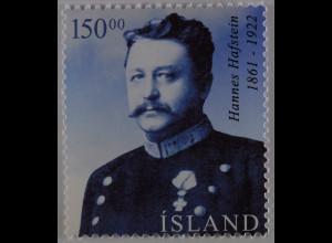 Island Iceland 2004 Michel Nr. 1053 Innere Selbstverwaltung Hannes Hafstein