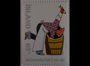 Island Iceland 2004 Michel Nr. 1068 100 Jahre Salzheringindustrie Heringe