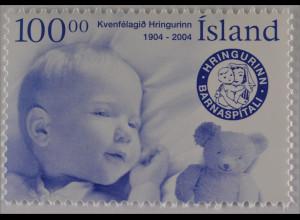 Island Iceland 2004 Nr. 1069 100 Jahre Frauenverein Der Ring