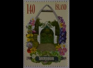Island 2009 Michel Nr. 1241 Parks 100 Jahre Gartenpark Skúour Dýrafjörour