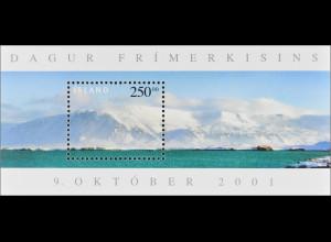 Island Iceland 2001 Block 29 Tag der Briefmarke Berg Esja 914m