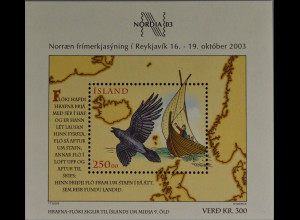 Island Iceland 2003 Block 32 Internationale Briefmarkenausstellung NORDIA 2003