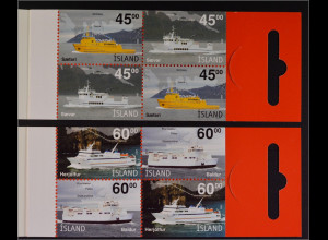 Island 2003, MH Paar Nr. 14-15, booklet, Inselfähren, Baldur, Saefari, Saevar