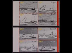 Island Iceland 2005, Michel MH Nr. 20-21, booklet, Fischereischiffe