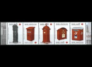 Belgien 2011 Michel Nr. 4176-80 Briefkästen Wandbriefkasten Standbriefkasten