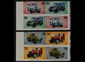 Island 2006, Michel 1124-27, MH-Paar, booklet, Geländegängige Automobile Jeep