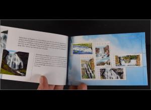 Island 2006, Prestige MH Nr. 24, booklet, Wasserfälle, Öxarárfoss, Faxi, ...