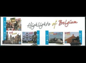 Belgien 2011 Michel Nr. 4144-48 Sehenswürdigkeiten Löwe von Waterloo Glockenturm
