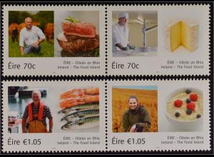 """Irland Èire 2015, Michel Nr. 2140-43, """"Food Island"""", Getreide, Fisch, Fleisch"""