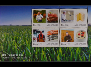"""Irland Èire 2015 Block 96 """" Food Island"""" Käse Fisch Fleisch Getreide"""