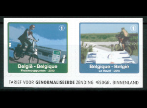 Belgien 2010 Michel Nr. 4100-01 D Rad- und Wanderwege in Wallonien