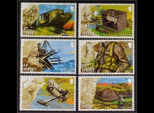 Jersey 2015, Michel Nr. 1949-54, 100 J. 1. Weltkrieg II., Panzer, Reiter, Soldat
