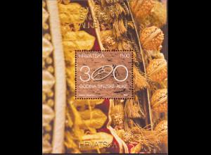 Kroatien Croatia 2015, Block 60, Kulturelles Erbe - 300 Jahre Ringreiter-Turnier