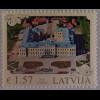 Lettland Latvia 2015, Michel Nr. 949, Architektur, Schlossansicht, Einzelwert