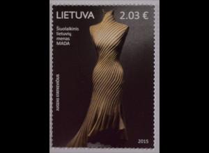 Litauen Lietuva 2015, Michel Nr. 1197, Zeitgenössische Kunst / Mode, MADA