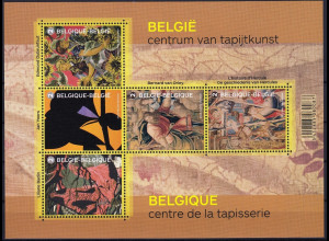 Belgien Belgium 2015 Block 189 Zentrum der Teppichkunst Belgische Gobelins