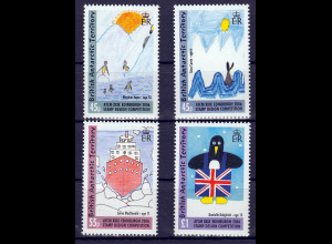 Britische Antarktis BAT, 2006, Michel Nr. 412-15 **, Kinderzeichnungen