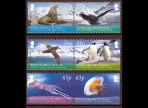 Britische Antarktis BAT, 2009, Michel Nr. 509-14, 50 J. Antarktisvertrag: Tiere